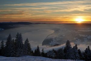 Vallée de Joux Lac gelé